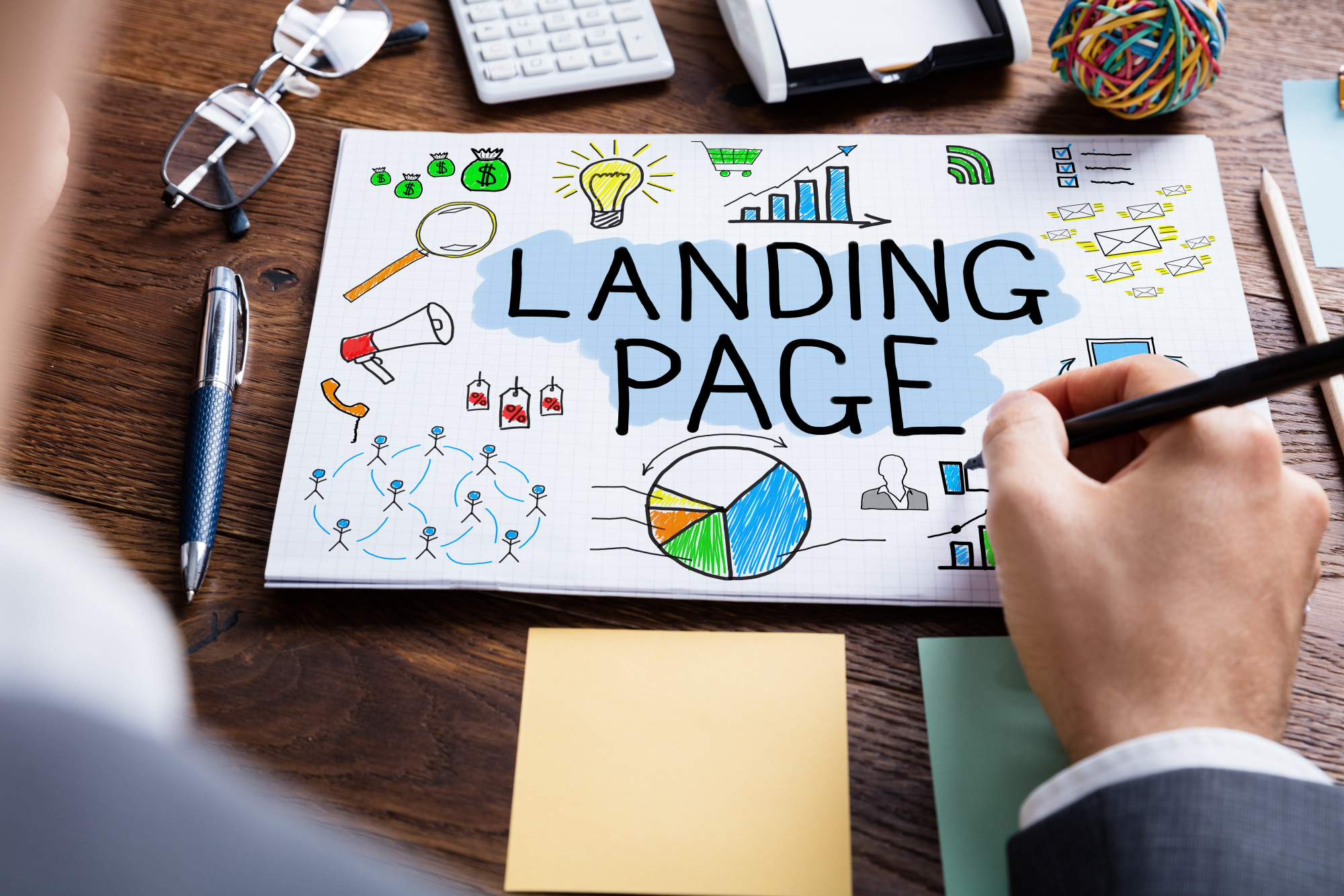 what is the difference between a website and a landing page